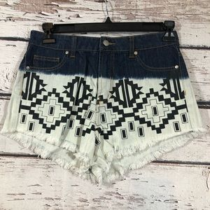 MinkPink cut off shorts